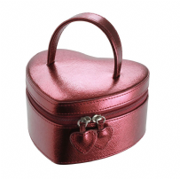 Dulwich Designs 70990 Boutique Metallic Red Heart Shaped Jewellery Box